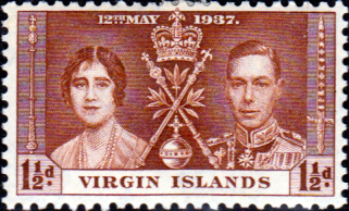 British Virgin Islands 1937 King George VI Coronation SG 108 Fine Mint