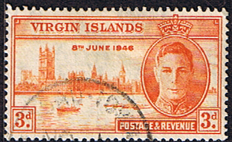 British Virgin Islands Stamps 1946 King George VI Victory