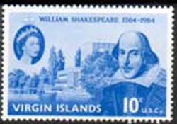 British Virgin Islands 1964 William Shakespeare Stamps SG 177 Scott 143