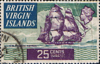 British Virgin Islands Stamps 1970 Ships HMS Astreat SG 251 Fine Mint Scott 217