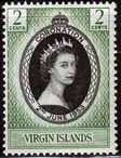 British Virgin Islands Queen Elizabeth II 1953 Coronation Stamps