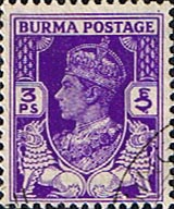 Postage Stamps Burma 1938 King George V Overprint SG 19 Fine Used Scott