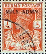 Postage Stamps Burma, 1945, King, George, V, Overprint, SG, 35 Fine Used Scott