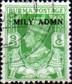 Postage Stamps Burma, 1945, King, George, V, Overprint, SG, 38 Fine Mint Scott