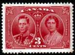 Canada 1937 King George VI Coronation Stamps