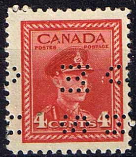 Canada 1942 SG O142 Official Overprint O.H.M.S Perforated Fine Mint