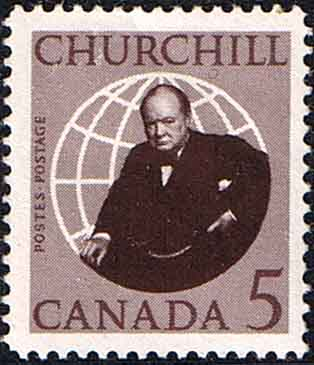 Postage Stamps Canada 1965 Churchill Commemotation Fine Mint SG 565 Scott 441