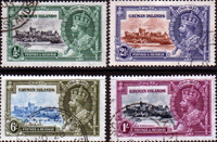 Cayman Islands 1935 King George V Silver Jubilee Set Fine Used