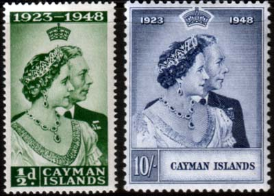 Cayman Islands Stamps King George VI Royal Silver Wedding