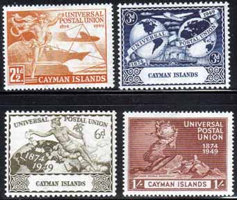 Postage Stamps Cayman Islands Stamps 1949 Universal Postal Union Set Fine Mint