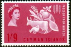 Stamps Cayman Islands 1963 Freedom From Hunger Fine Mint