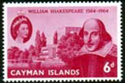Cayman Islands Stamps 1964 William Shakespeare Set Fine Mint