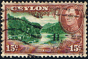 Ceylon 1938 King George VI SG 390 River Scene Fine Used