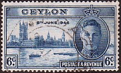 Ceylon Stamps 1946 King George VI Victory