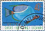 Stamps Cocos Keeling Islands 1996 Fishes SG 334 Saddled Butterflyfish Fine Used Scott 306