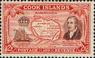 Cook Island 1949 Rarotonga and Revd. John Williams SG 152 Fine Mint
