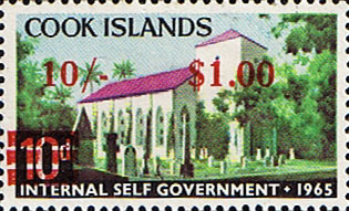 Stamps of Cook Islands 1967 Decimal Surcharged SG 218 Fine Mint Scott 191