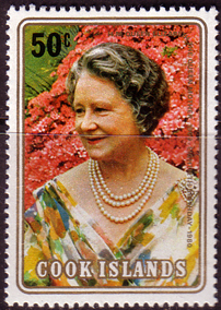 Postage stamps of Cook Islands 1980 Mothers 80th Birthday Fine Mint