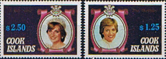 Stamp Stamps 1982 Cook Iskands Prince William Birthday Set Fine Min