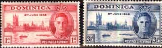 Dominica Stamps 1946 King George VI Victory