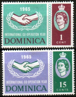 Dominica 1965 International Co-operation Year Set Fine Mint