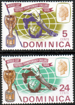 Dominica 1966 Football World Cup Set Fine Mint