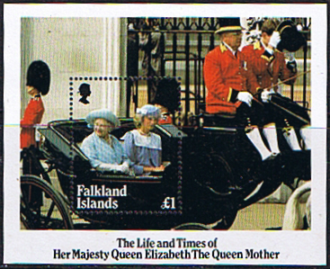 Stamps Stamp Falkland Islands Queen Mother Life and Times Miniature Sheet Fine Mint