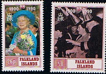 Falkland Islands 1990 Queen Mother 90th Birthday Set Fine Mint