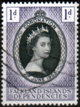 Falkland Islands Dependecies Queen Elizabeth II 1953 Coronation Fine Used