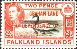 Falkland Islands Dependencies 1944 Graham Land SG a3 Fine Mint