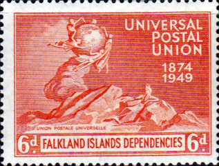 Falkland Islands Dependencies 1949 Universal Postal Union  SG G24 Fine Mint