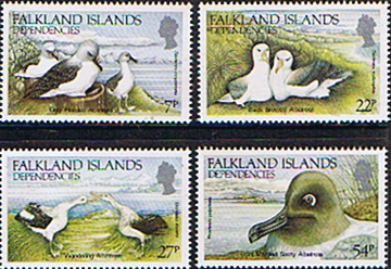 Stamps of Falkland Islands Dependencies Albatrosses 1985 set Fine Mint