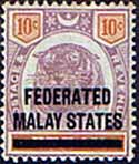 Federated Malay States 1900 SG 10 Overprint Fine Mint