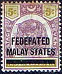 Federated Malay States 1900 SG  4 Overprint Good Mint