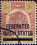 Federated Malay States 1900 SG  9 Overprint Good Used