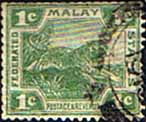 Federated Malay States 1904 SG 28 Tiger Fine Used