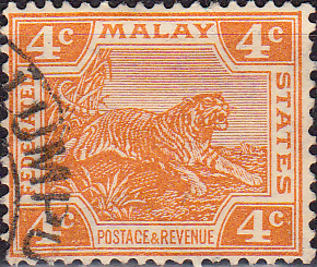 Federated Malay States 1922 SG 60 Tiger Fine Used