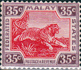 Federated Malay States 1922 SG 73 Tiger Fine Mint