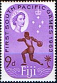 Fiji 1963 South Pacific Games SG 330 Fine Mint