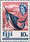 Fiji 1969 SG 399 Blue Marlin Fish Fine Mint