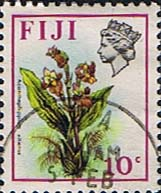 Postage Stamps Fiji 1971 Birds and Flowers Set Fine Used SG 442 Scott: 312