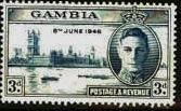 Gambia 1946 King George VI Victory SG163 Fine Mint