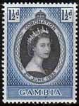 Gambia Queen Elizabeth II 1953 Coronation Stamps