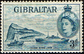 Gibraltar 1953 SG 150 Ship Ocean Going Liner Fine Mint