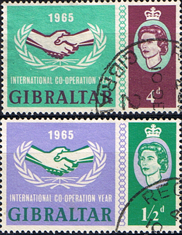 Gibraltar 1965 International Co-operation Year Set Fine Used
