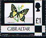 Postage Stamps of Gibraltar 1977 Birds, Flowers, Fish and Butterflies Set Fine Mint