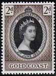 Stamps Gold Coast Queen Elizabeth II 1953 Coronation Fine Mint SG 165 Scott 160