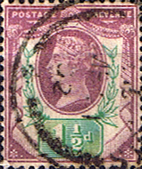 GB Stamps Great Britain 1887 Queen Victoria Jubilee Issue SG 198 Fine Used Scott 112