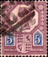Post Stamp Stamps Great Britain 1887 Queen Victoria Jubilee Issue SG 207a Fine Used Scott 118