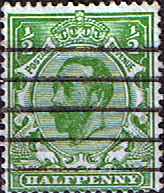 British Stamps Great Britain 1911 King George V Head SG 325 Fine Used Scott 151